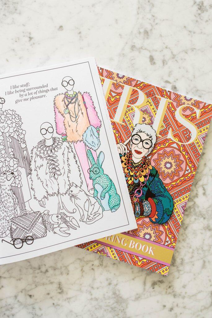 New Iris Apfel Coloring Book Will Support Student Scholarships